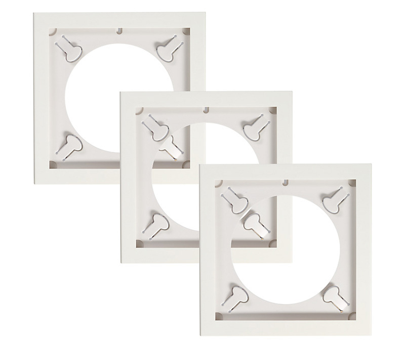 """3x Art Vinyl Play and Display 12"""" Record Frame (White)"""