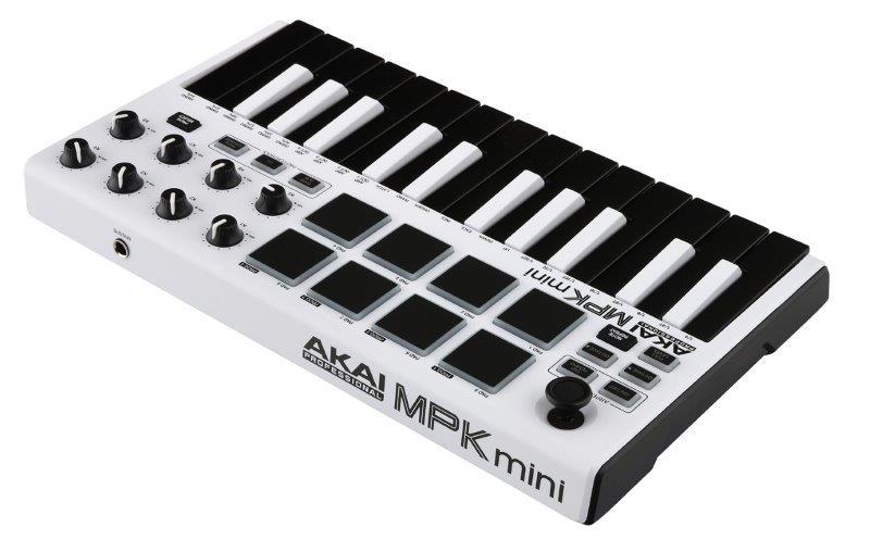akai mpk mini mk2 white midi keyboards bop dj. Black Bedroom Furniture Sets. Home Design Ideas