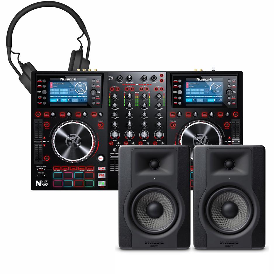 Numark NV2, 2x M-Audio BX5 D3, AIAIAI TMA-2 | Bop DJ