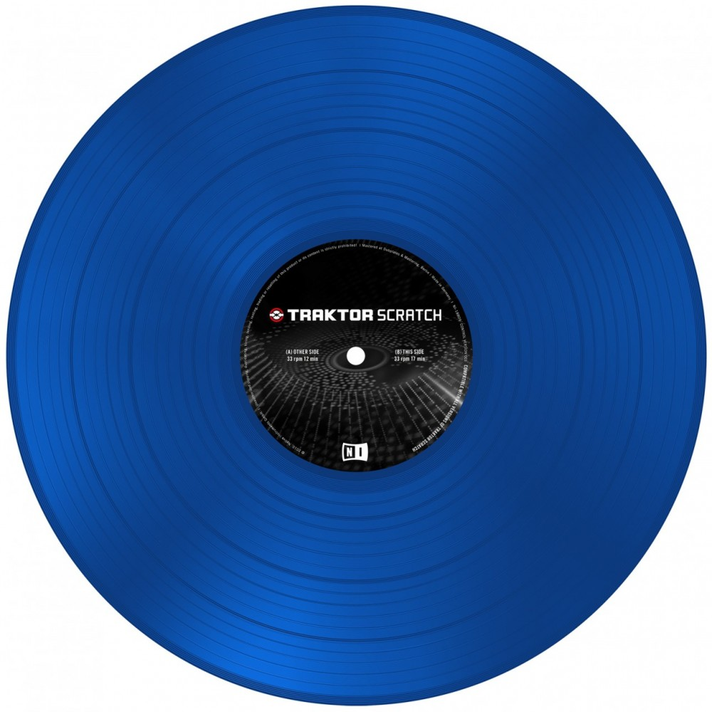 ni traktor scratch control vinyl blue bop dj. Black Bedroom Furniture Sets. Home Design Ideas