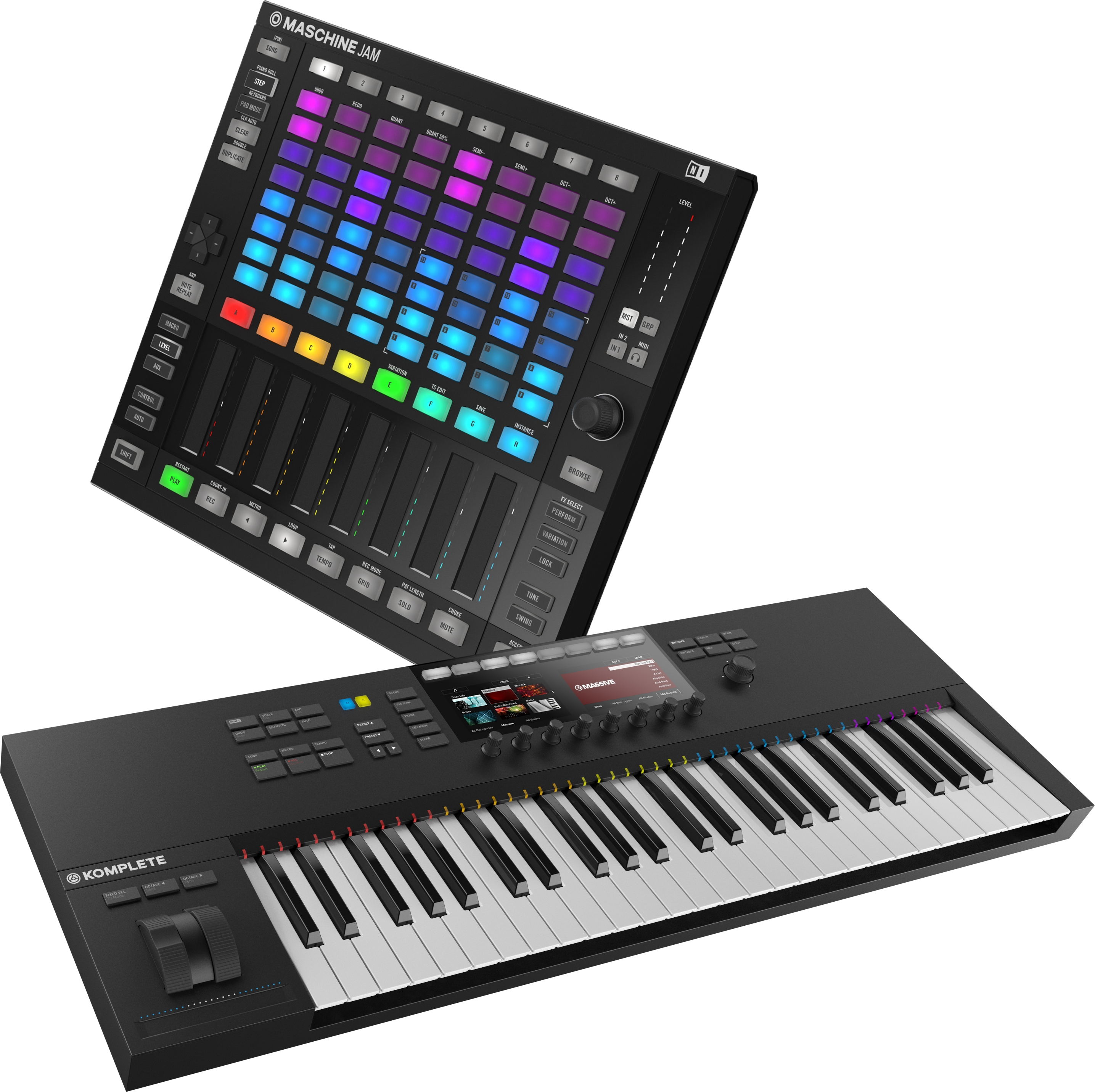 ni komplete kontrol s49 mk2 maschine jam bop dj. Black Bedroom Furniture Sets. Home Design Ideas