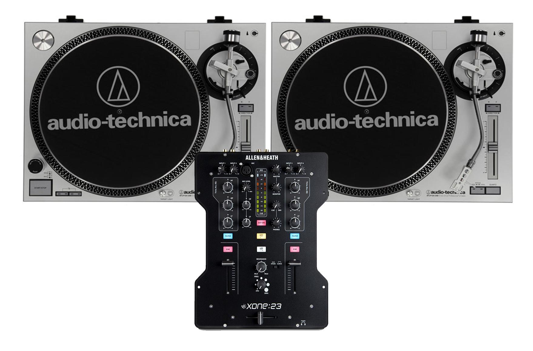2 x Audio Technica ATLP120 & Allen & Heath Xone 23