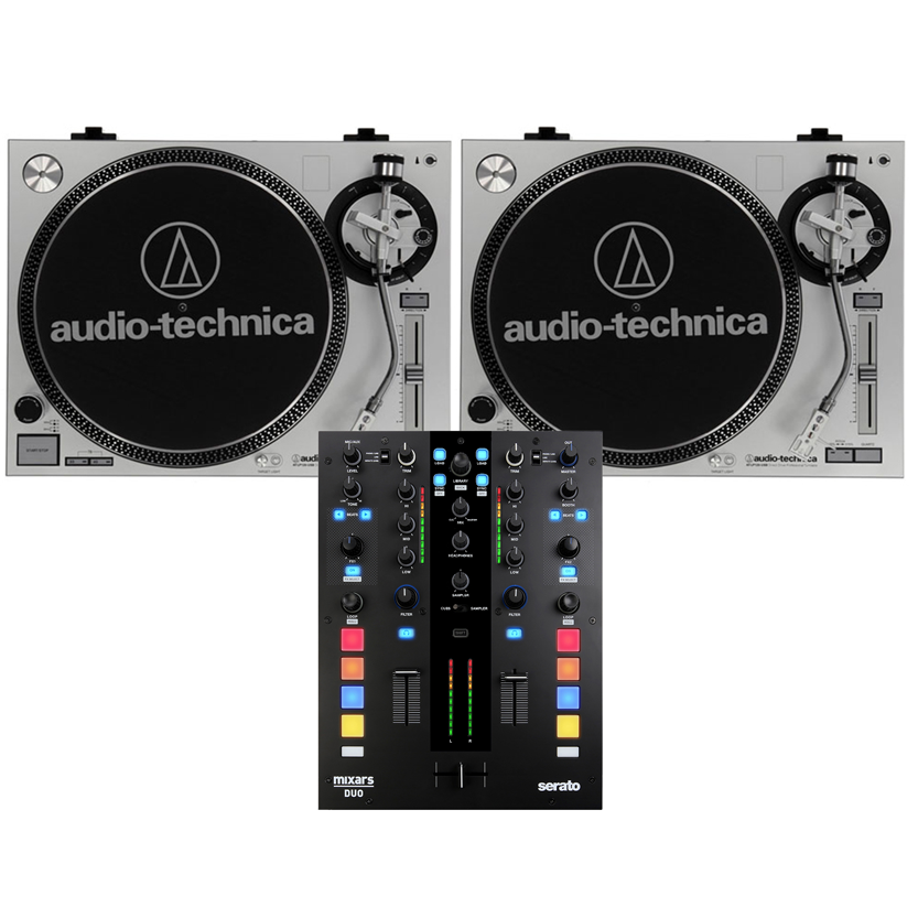 2 x Audio Technica ATLP120 & Mixars Duo Mk2 & Rekordbox Control Vinyl