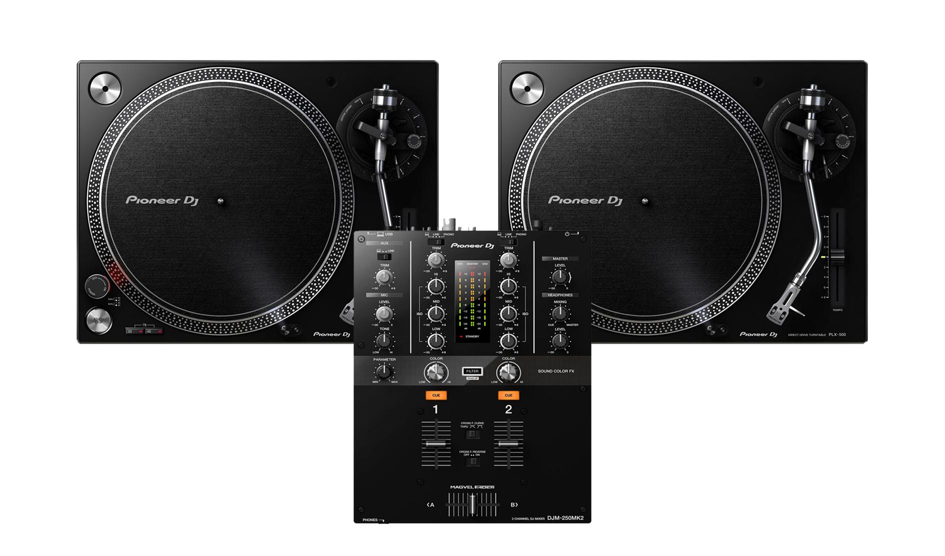 8d492cb7f6a 2x Pioneer PLX-500   Pioneer DJM-250Mk2